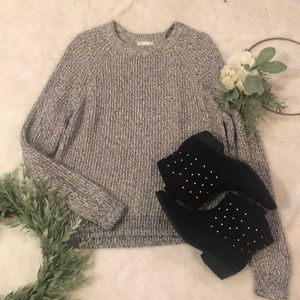 H&M Basic Black and White Crew neck Sweater